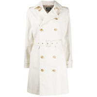 A.p.c. Double Breasted Trench Coat - Neutro