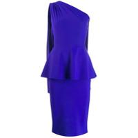 Le Petite Robe Di Chiara Boni Blusa Ombro Único Peplum - Azul