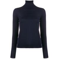 Nuur Suéter Gola Alta Slim Fit - Azul