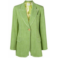 Etro Blazer Com Abotoamento Simples - Verde