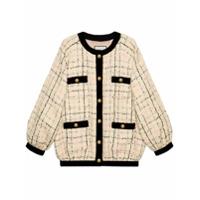 Gucci Jaqueta Bomber Oversized De Tweed - Neutro