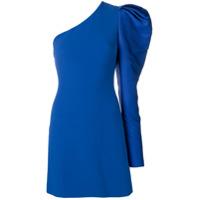 David Koma Vestido Ombro Único - Azul