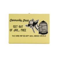 Olympia Le-Tan Clutch 'get Out Of Jail Free' - Amarelo