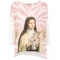 Tig Camiseta 'santa' Com Aplicações - Branco