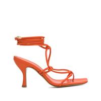Gia Couture Sandália Aimee Com Amarração No Tornozelo - Laranja