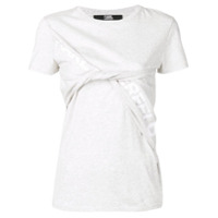 Karl Lagerfeld Camiseta Mangas Curtas - Cinza