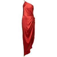 Michelle Mason Vestido De Festa Com Detalhe De Nó - Vermelho