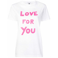 Bella Freud Camiseta Love For You - Branco