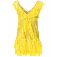 Aniye By Vestido Com Babados - Amarelo