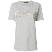 Alexander Mcqueen Camiseta Com Aplicações - Cinza