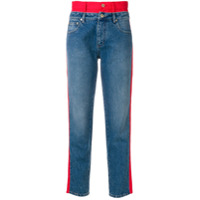 Hilfiger Collection Calça Jeans Color Block - Azul