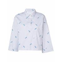 Kule Camisa Com Bordado 'the Keaton' - Branco