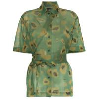 Asai Camisa 'camo Gleam' Com Transparência - Verde