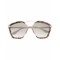 Jimmy Choo Eyewear Óculos De Sol 'leons' - Marrom