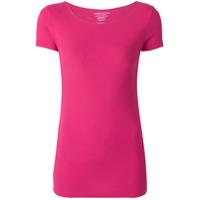 Majestic Filatures Camiseta Slim Decote Arredondado - Rosa