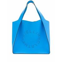 Stella Mccartney Bolsa Tote Com Logo Perfurado - Azul