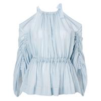 Fendi Blusa Com Recorte Nos Ombros - Azul