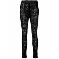 Dolce & Gabbana Legging De Renda - Preto