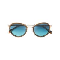 Tommy Hilfiger Óculos De Sol Com Efeito De Madeira - Marrom