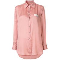 Kimhekim Camisa Com Logo Oversized - Rosa