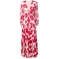 Borgo De Nor Vestido Freya Longo Com Estampa Floral - Rosa