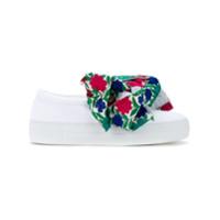 Joshua Sanders Tênis Slip On Com Laço Floral - Branco