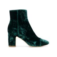 Polly Plume Ankle Boot De Veludo 'ally' - Verde