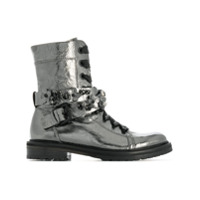 Kennel&schmenger Ankle Boot Com Cadarço - Metálico