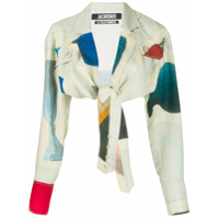 Jacquemus Abstract Print Cropped Shirt - Verde