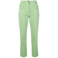 Etro Calça Jeans Slim Com Bordado - Verde