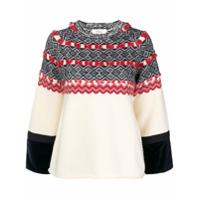 Clu Suéter Com Padronagem - Branco