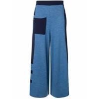 Temperley London Calça Pantacourt 'aggie' - Azul