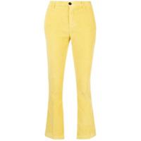 Department 5 Calça Flare Aveludada - Amarelo