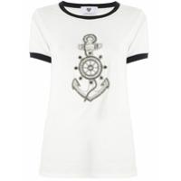 Andrea Bogosian T-Shirt Pinny Bordada - Branco