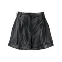 Ruban Wide Leg Shorts - Preto