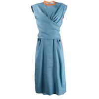 Mrz Vestido Transpassado - Azul