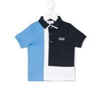 Boss Kids Camisa Polo Color Block - Azul