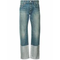 Tu Es Mon Trésor Calça Jeans Boyfriend Com Glitter - Azul