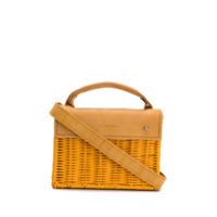 Wicker Wings Mini Kuai Crossbody Bag - Amarelo