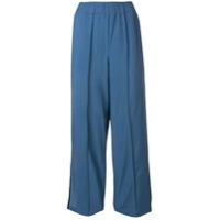 Alysi Calça Cropped Com Acabamento Contrastante - Azul