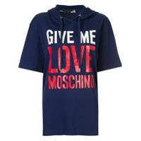 Love Moschino Moletom Com Estampa De Logo - Azul