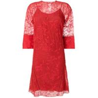 Noon By Noor Vestido Translúcido - Vermelho