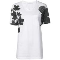 Neil Barrett Camiseta Floral Com Bolso - Branco
