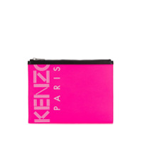 Kenzo Clutch Com Estampa De Logo - Rosa