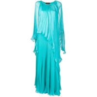 Irina Schrotter Vestido De Festa Com Pregas - Azul