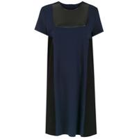 Tufi Duek Vestido Reto Com Recortes - Azul