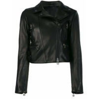 Sly010 Cropped Biker Jacket - Preto