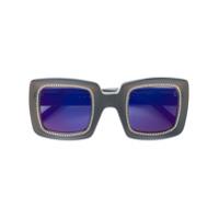Marni Eyewear Óculos De Sol Quadrado - Preto