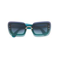 Miu Miu Eyewear Óculos De Sol Oversized - Green