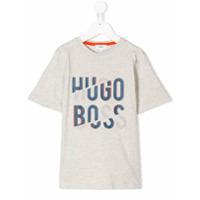 Boss Kids Camiseta Com Estampa De Logo - Cinza
